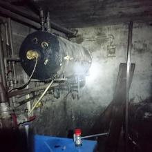 Pożar kotłowni przy ul. Kościuszki. Właściciel z oparzeniami trafił do szpitala