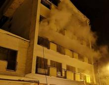 Pożar w hotelu Koliba w Piwniczej. Prawdopodobnie to było podpalenie