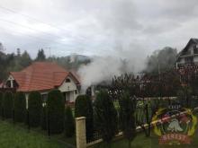 Pożar w Bereście. Z kotłowni wydobywały się płomienie i kłęby dymu