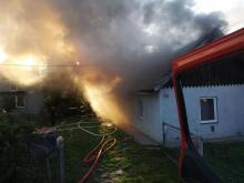 W Barcicach palił się dom. To już drugi pożar w ciągu trzech tygodni [ZDJĘCIA]