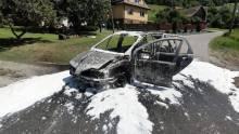 Koszmar w Zubrzyku! Renault zapaliło się w tracie jazdy!