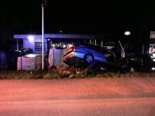 Uszkodzone auta, latarnia i ogrodzenie. Co się wydarzyło w nocy na Węgierskiej?