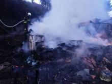 Pożar w Leluchowie, fot. PSP w Nowym Sączu