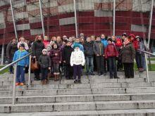 Ucznioiwe z Koniuszowej na wycieczce w Warszawie