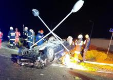 Wypadek w Naszacowicach. Rannych szukali w promieniu pół kilometra od samochodu