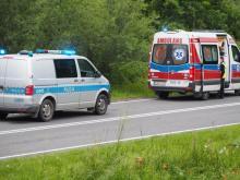 Groźny wypadek w gminie Łososina Dolna. Samochód potrącił 15-latkę