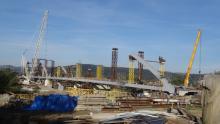 Budowa mostu heleńskiego, fot. Iga Michalec
