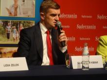 Sławomir Kmak, dyrektor krynickiego szpitala, Fot. Iga Michalec