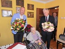 Pani Franciszka, która pochodzi z Gródka, niedawno świętowała 100 urodziny!