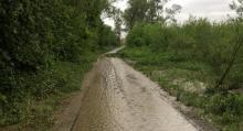 Sądeckie ścieżki rowerowe po powodzi jak  obraz nędzy i rozpaczy