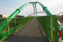 Gdzie wybudowali w Nowym Sączu taki fajny zielony most