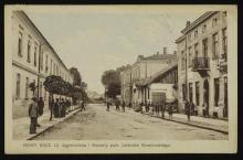 Końcowy fragment ulicy Jagiellońskiej. Okres międzywojenny. Zbiory POLONA.