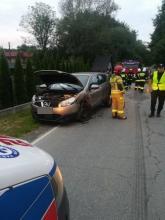 Wypadek w Jasiennej, fot. PSP w Nowym Sączu