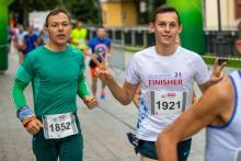 Festiwal Biegowy: zawodnicy przybyli na metę Półmaratonu