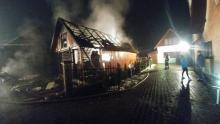 pożar stolarni