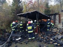 Pożar budynku w Tyliczu