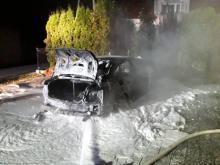 Znów pożar samochodu. Audi stanęło w ogniu [ZDJĘCIA]