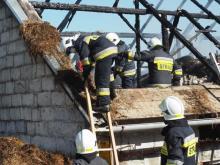 Pożar w Moszczenicy Wyżnej. Zapach spalenizny czuć z daleka [WIDEO]