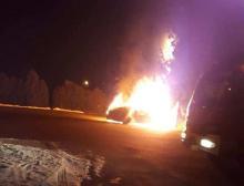 Pożar samochodu w Mszanie Dolnej. Z luksusowego BMW został spalony wrak [ZDJĘCIA