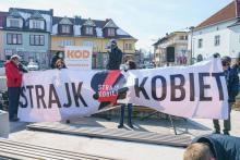 Poszło o ukaraną nastolatkę. Manifestacja Strajku Kobiet w Limanowej