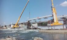 Ostatni element rusztu mostu heleńskiego już na swoim miejscu. Brawa dla ekipy!