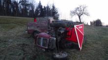 Z ostatniej chwili: tragedia w Męcinie. Rolnik zginął pod traktorem