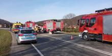 Z ostatniej chwili: wypadek w Łososinie. Droga krajowa DK 75 zablokowana