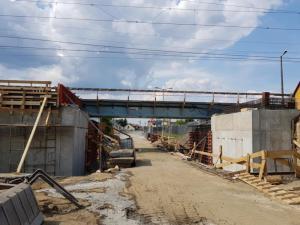 Remont wiaduktu kolejowego na ul. Zielonej w NS, fot. Iga Michalec
