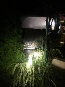 Przy Dmowskiego spalił się samochód. Kolejny